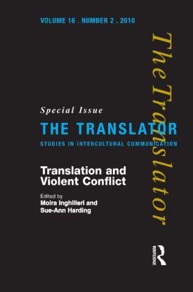 Translation and Violent Conflict: 1st Edition (Hardback) book cover