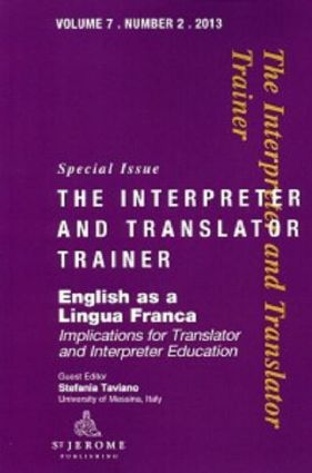 English as a Lingua Franca: Implications for Translator and Interpreter Education, 1st Edition (Paperback) book cover