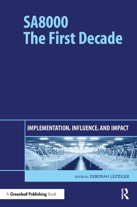 SA8000: The First Decade: Implementation, Influence, and Impact, 1st Edition (Hardback) book cover