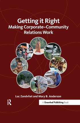 Getting it Right: Making Corporate-Community Relations Work, 1st Edition (Hardback) book cover