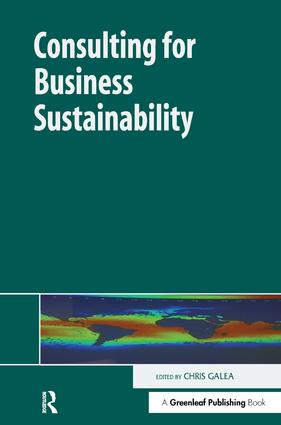 Consulting for Business Sustainability: 1st Edition (Hardback) book cover