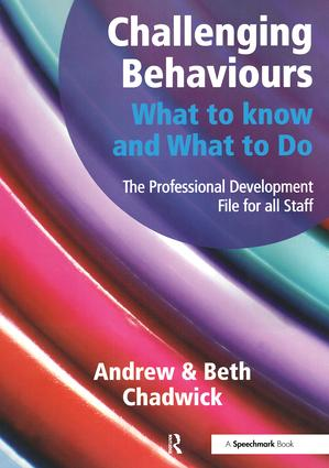 Challenging Behaviours - What to Know and What to Do: The Professional Development File for All Staff, 1st Edition (Paperback) book cover