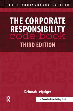 The Corporate Responsibility Code Book: 3rd Edition (Hardback) book cover
