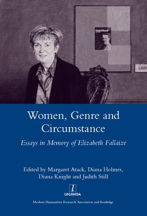 Women Genre and Circumstance: Essays in Memory of Elizabeth Fallaize, 1st Edition (Hardback) book cover