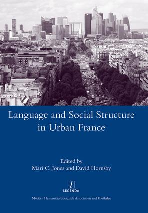 Language and Social Structure in Urban France: 1st Edition (Hardback) book cover