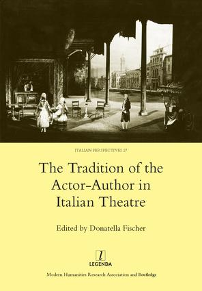 The Tradition of the Actor-author in Italian Theatre book cover