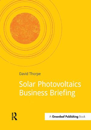 Solar Photovoltaics Business Briefing: 1st Edition (Paperback) book cover