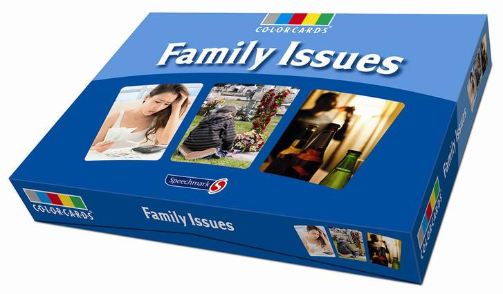Family Issues Colorcards: 1st Edition (Flashcards) book cover