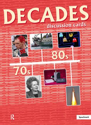 Decades Discussion Cards 70s/80s: 1st Edition (Flashcards) book cover