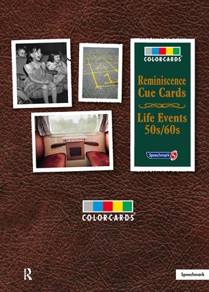 Reminisence Cue Cards 50s/60s: Colorcards: 1st Edition (Flashcards) book cover