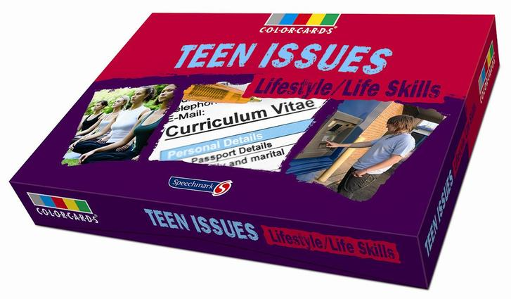 Teen Issues - Life Skills: Colorcards: 1st Edition (Flashcards) book cover