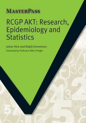 RCGP AKT: Research, Epidemiology and Statistics, 1st Edition (Paperback) book cover
