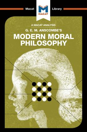 Modern Moral Philosophy: 1st Edition (Paperback) book cover