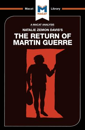 An Analysis of Natalie Zemon Davis's The Return of Martin Guerre: 1st Edition (Paperback) book cover
