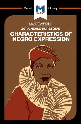 An Analysis of Zora Heale Hurston's Characteristics of Negro Expression: 1st Edition (Paperback) book cover