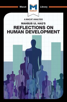 An Analysis of Mahbub ul Haq's Reflections on Human Development: 1st Edition (Paperback) book cover