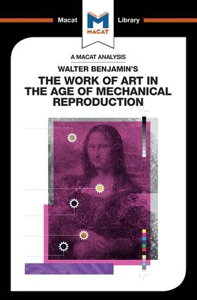 Walter Benjamin's The Work Of Art in the Age of Mechanical Reproduction book cover