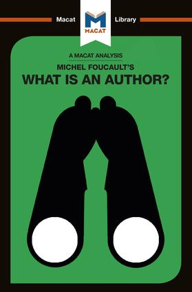 Michel Foucault's What is an Author? book cover