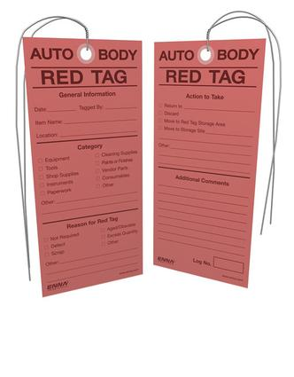 5S Auto Body Red Tags: 1st Edition (Loose-leaf) book cover