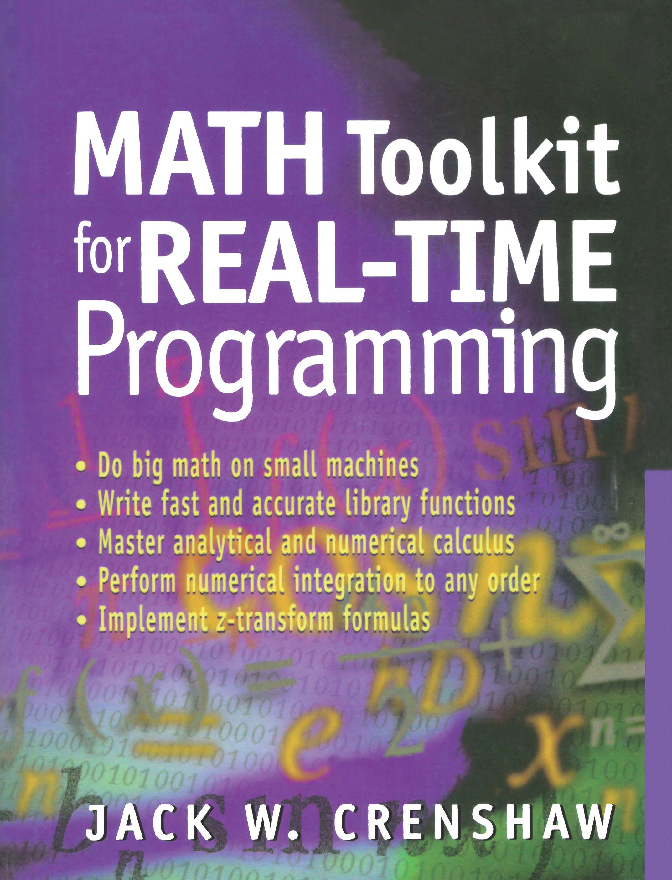 Math Toolkit for Real-Time Programming (Paperback) book cover