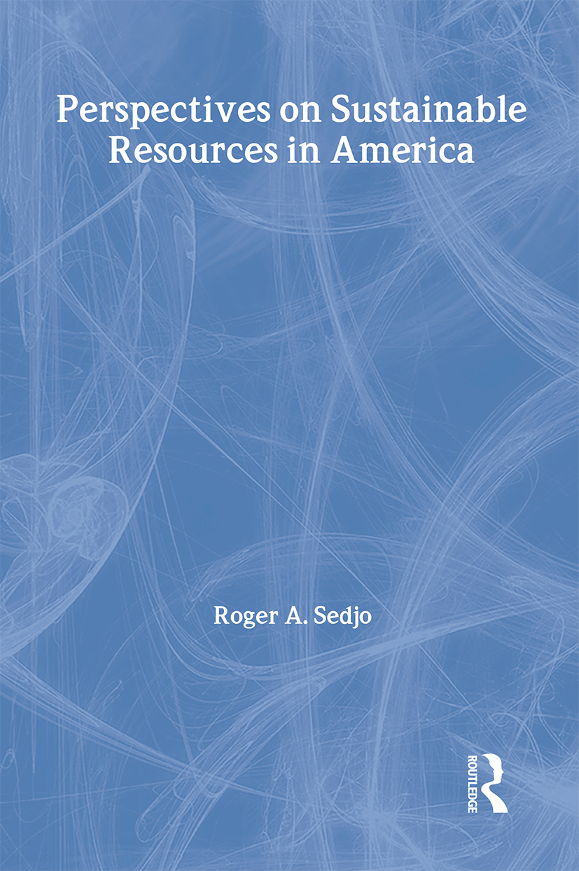 Perspectives on Sustainable Resources in America (Paperback) book cover