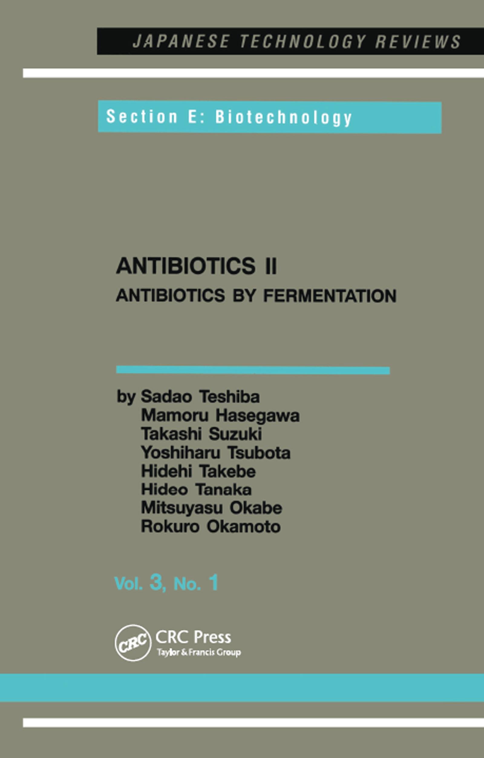 Antibiotics II: 1st Edition (Paperback) book cover