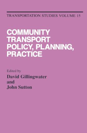 Community Transport: Policy, Planning and Practice