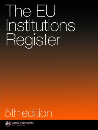 Eu Institutions Register: 5th Edition (Hardback) book cover