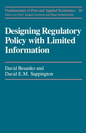 Designing Regulatory Polcy: 1st Edition (Paperback) book cover