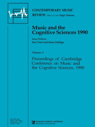 Music and the Cognitive Sciences 1990 book cover