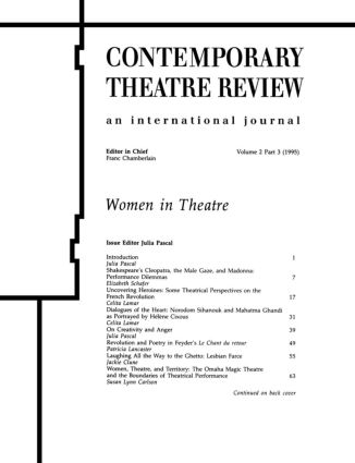 Women in Theatre 2#3: 1st Edition (Paperback) book cover