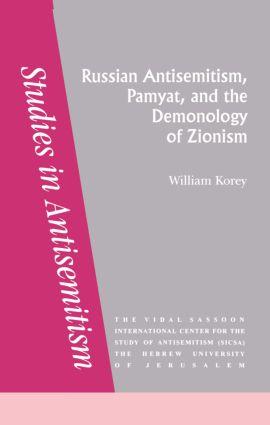 Russian Antisemitism Pamyat/De: 1st Edition (Paperback) book cover