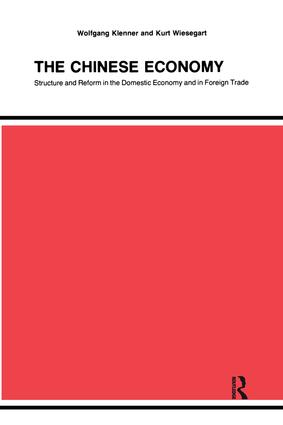 Chinese Economy: 1st Edition (Paperback) book cover