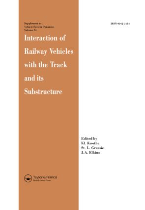 Interaction of Railway Vehicles with the Track and Its Substructure: 1st Edition (Hardback) book cover