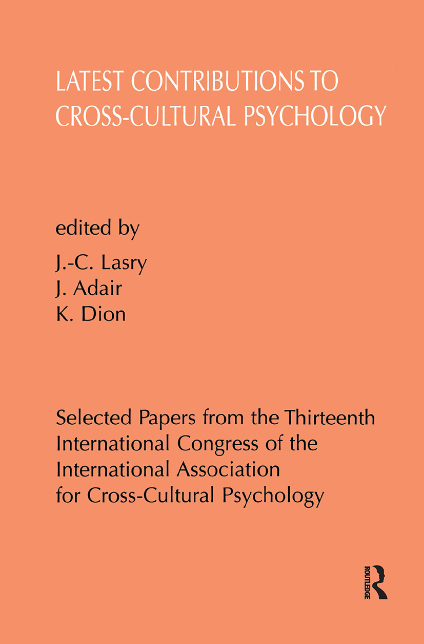 Latest Contributions to Cross-cultural Psychology: 1st Edition (Hardback) book cover