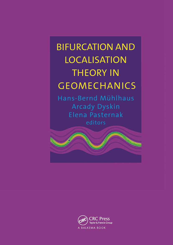 Bifurcation and Localisation Theory in Geomechanics: 1st Edition (Hardback) book cover