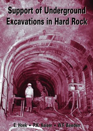 Support of Underground Excavations in Hard Rock: 1st Edition (Paperback) book cover