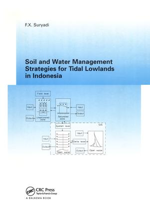 Soil and Water Management Strategies for Tidal Lowlands in Indonesia: 1st Edition (Paperback) book cover