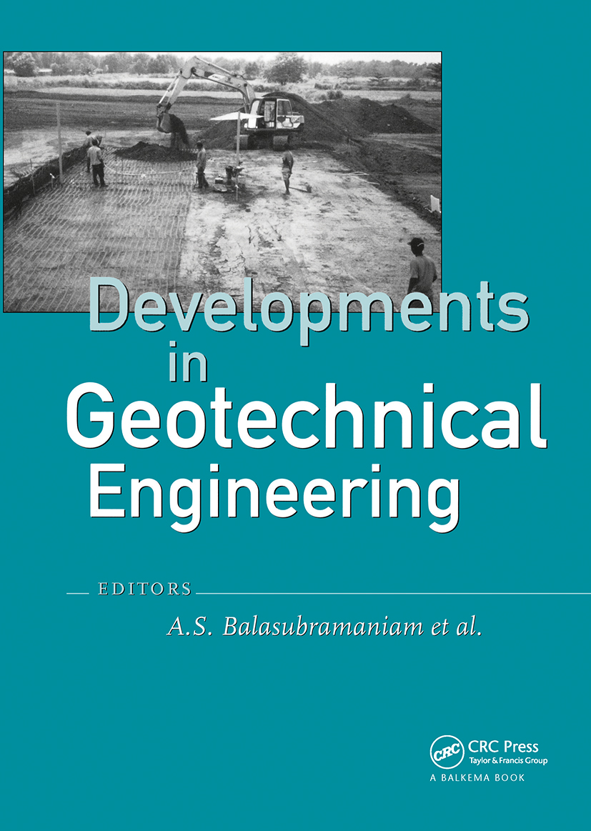 Developments in Geotechnical Engineering: from Harvard to New Delhi 1936-1994: 1st Edition (Hardback) book cover