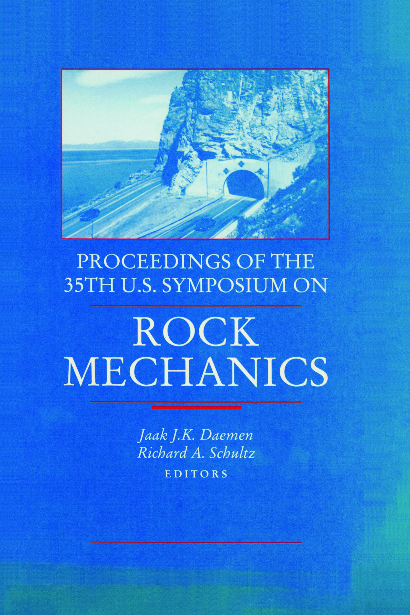 Rock Mechanics: Proceedings of the 35th US Symposium on Rock Mechanics, 1st Edition (Hardback) book cover