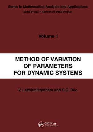 Method of Variation of Parameters for Dynamic Systems book cover