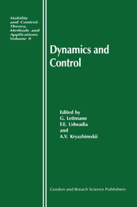 Dynamics and Control: 1st Edition (Hardback) book cover