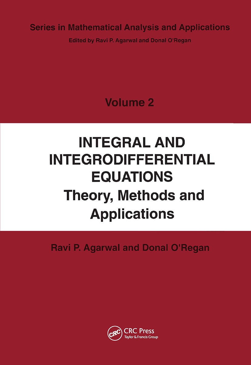Integral and Integrodifferential Equations book cover