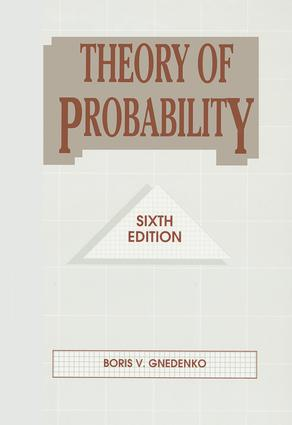 Theory of Probability: 6th Edition (Hardback) book cover
