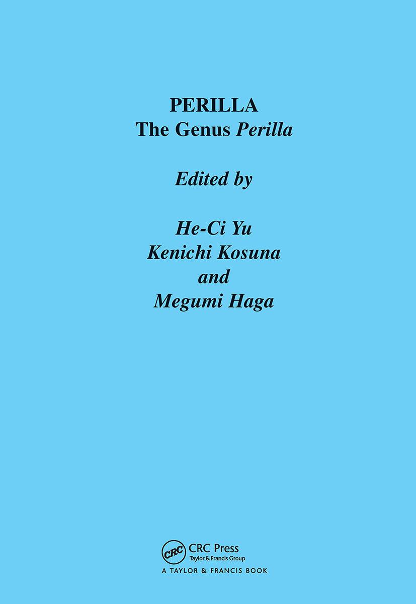 Perilla: The Genus Perilla book cover