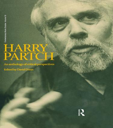 Harry Partch: An Anthology of Critical Perspectives (Hardback) book cover