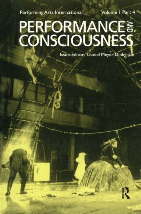Performance & Consciousness: 1st Edition (Hardback) book cover