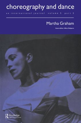 Martha Graham: A special issue of the journal Choreography and Dance, 1st Edition (Paperback) book cover