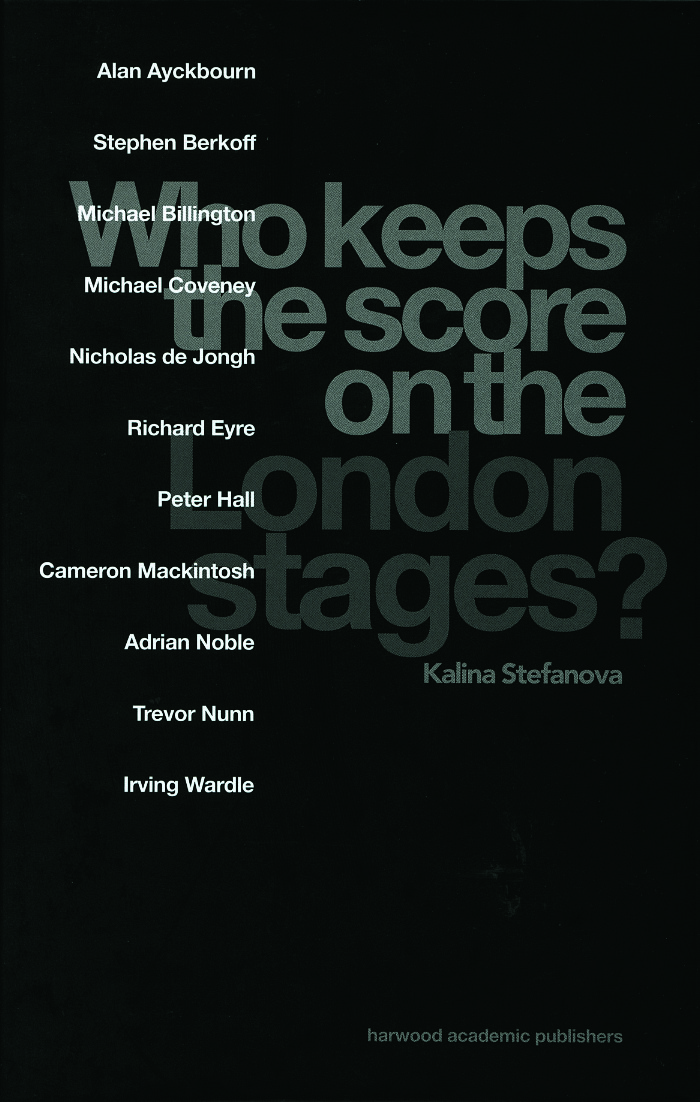 Who Keeps the Score on the London Stages?: 1st Edition (Hardback) book cover