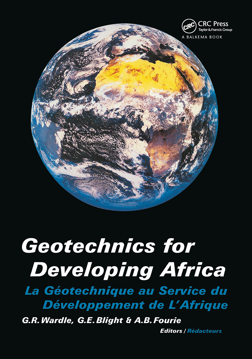 Geotechnics for Developing Africa: Proceedings of the 12th regional conference for Africa on soil mechanics and geotechnical engineering, Durban, South Africa, 25-27 October 1999, 1st Edition (Hardback) book cover